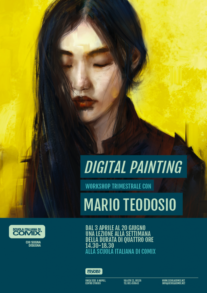 Digital Painting, Workshop con Mario Teodosio